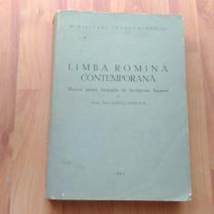 LIMBA ROMANA CONTEMPORANA-ACAD. PROF. IORGU IORDAN