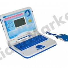 Mini laptop de jucarie cu 80 de aplicatii in limba Romana si Engleza - Albastru