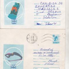 Bnk ip Lot 2 intreguri postale 1975 - circulate - JO Innsbruck, Dupa 1950