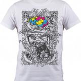 """Tricou personalizat """"Color Brain"""" printeo - Tricou barbati, Marime: S, M, L, XL, XXL, Culoare: Alb, Maneca scurta"""