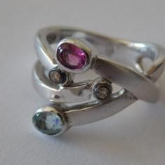 Inel aur cu argint si diamante - 440