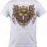 """Tricou personalizat """"King Heart"""" printeo - Tricou barbati, Marime: S, M, L, XL, XXL, Culoare: Alb, Maneca scurta"""