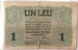 ROMANIA 1 LEU BGR 1917 U