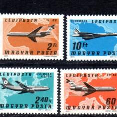 UNGARIA 1977, Aviatie, MNH, serie completa neuzata - Timbre straine, Nestampilat