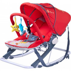 Sezlong pentru Copii Aqua Red - Balansoar interior Caretero