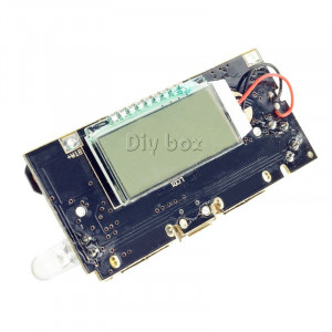Sursa incarcator dual USB 5V 1A 2.1A cu ecran LCD oled