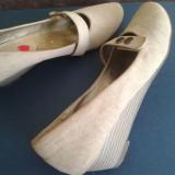 Pantofi cu talpa ortopedica - Incaltaminte ortopedica, Culoare: Bej