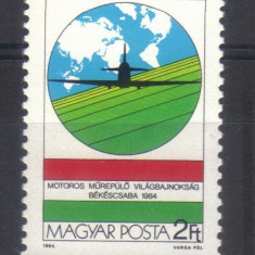 UNGARIA 1984, Aviatie, serie neuzata, MNH - Timbre straine, Nestampilat