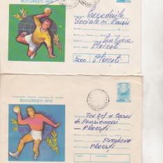 Bnk ip Lot 2 intreguri postale 1975 - circulaet - CMU de handbal, Dupa 1950