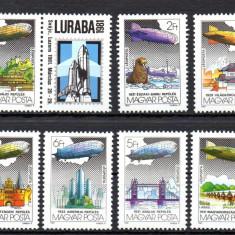 UNGARIA 1981, Dirijabile, Aviatie, serie neuzata, MNH - Timbre straine, Nestampilat