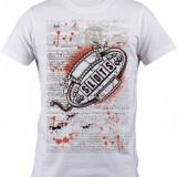 """Tricou personalizat """"Slots"""" printeo - Tricou barbati, Marime: S, M, L, XL, XXL, Culoare: Alb, Maneca scurta"""