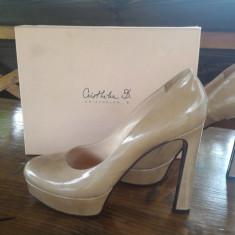 Pantofi eleganti dama - Pantof dama, Culoare: Nude, Marime: 40