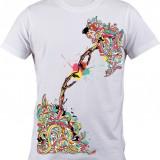"""Tricou personalizat """"New Capela Sixtina"""" printeo - Tricou barbati, Marime: S, M, L, XL, XXL, Culoare: Alb, Maneca scurta"""
