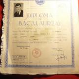 Diploma de Bacalaureat la Liceul din Sarmas regiunea Ludus 1967 - Diploma/Certificat