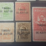 """Romania 1915 supratipar """"Timbru de ajutor"""" serie mnh - Timbre Romania, Transporturi, Nestampilat"""