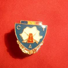 Insigna militara CTA -marina sau graniceri, h= 2, 5 cm, metal si email