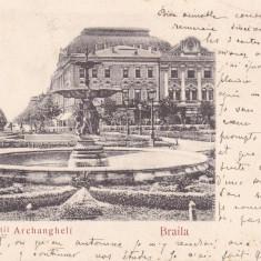 BRAILA PIATA SFINTII ARHANGHELI CIRCULATA 1905 CLASICA EDITURA G. HALIKIAS - Carte Postala Muntenia pana la 1904, Printata