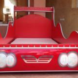 Pat in forma de masina de curse+saltea - Pat dormitor