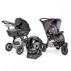 Carucior Trio Activ3 Car Kit Grey - Carucior copii 2 in 1 Chicco