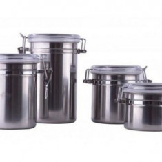 Set 3 caserole din inox cu inchidere ermetica - Caserola