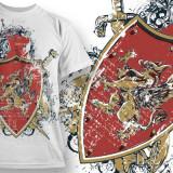"""Tricou personalizat """"Gryphon Shield"""" printeo - Tricou barbati, Marime: S, M, L, XL, XXL, Culoare: Alb, Maneca scurta"""