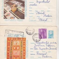 Bnk ip Lot 2 Intreguri postale 1969 - circulate - Folclor, Dupa 1950