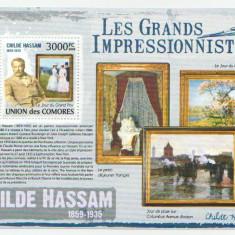 COMORES 2009 - PICTURA, CHILDE HASSAM - BLOC neuzat