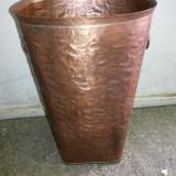Suport de umbrele, vechi, englezesc, din tabla de cupru - Metal/Fonta