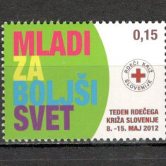 Slovenia.2012 Timbre de binefacere-Crucea Rosie MS.821 - Timbre straine, Nestampilat