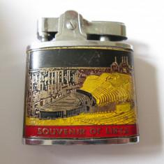 Bricheta japoneza colectie Empire(Souvenir of Libya) cu piatra si benzina anii70 - Bricheta Cu benzina