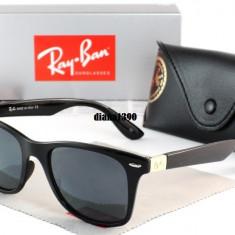 Ochelari Soare Ray Ban Wayfarer Polarizati 4195 - Ochelari de soare Ray Ban, Unisex, Negru, Plastic, Polarizare, Polarizate