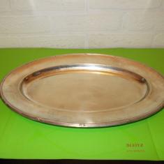 Frumos PLATOU oval din ALPACCA ARGINTATA, perioada interbelica, marcat, Tava