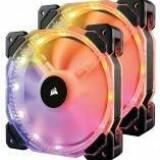 Corsair ventilator HD140 RGB LED High Static Pressure, 140 mm, 4 pin, 2-Pack - Cooler PC