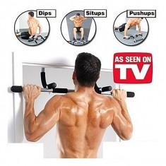Aparat fitness de tractiuni - Bara tractiuni, Pe usa