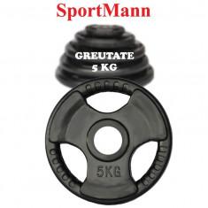 Greutate cauciucata 5kg/51mm Sportmann, Discuri greutati
