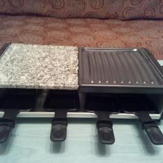 Grill electric - raclette pe piatra si teflon - Gratar electric