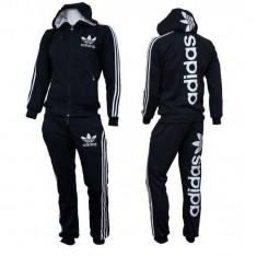 Trening Adidas Logo Barbati Negru - Trening barbati Adidas, Marime: L, XL, Culoare: Din imagine, Bumbac
