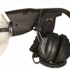 Amplificator de sunet la distanta cu microfon parabolic si receptor