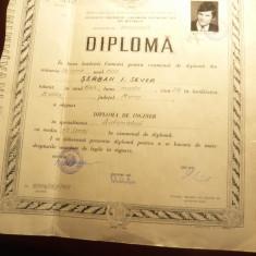 Diploma de Inginer specialitatea Automatica 1972 RSR - Diploma/Certificat