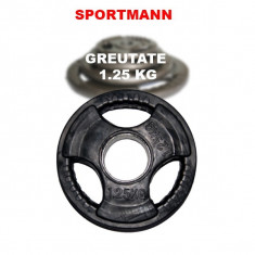 Greutate cauciucata 1.25kg/51mm Sportmann