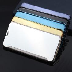 Husa flip Clear View pentru Samsung Galaxy J3 2016 / J5 2016 / J7 2016, Alt model telefon Samsung, Albastru, Argintiu, Auriu, Negru, Roz, Plastic