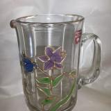 "Vas din sticla, ""Tiffany"", original, lucru manual"
