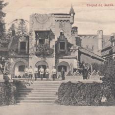 SINAIA CORPUL DE GARDA CASA REGALA CIRCULATA 1906 - Carte Postala Muntenia 1904-1918, Printata