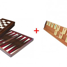 SET Joc Remi din lemn Kardesler si Joc table lemn lacuit - Joc board game