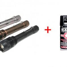 SET Electrosoc tip lanterna 1108 si Spray Nato