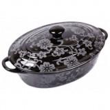 Cratita Ceramica Ovala cu capac Vabene VB-6020023 - oala, cratita, Vas ceramic