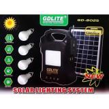 Kit panou solar cu 4 becuri si radio FM Gdlite GD-8025, Becuri LED