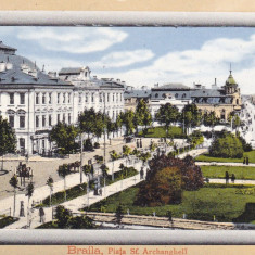 BRAILA PIATA SFINTII ARHANGHELI EDITURA AD. MAIER & D. STERN BUCURESTI - Carte Postala Muntenia 1904-1918, Necirculata, Printata