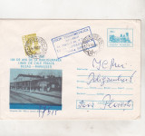 Bnk ip Intreg postal 1981 - circulat - Calea ferata Buzau Marasesti, Dupa 1950