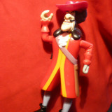 Jucarie- Figurina Capitanul Hook din Peter Pan, h= 14, 5 cm, cu cheita spate - Figurina Desene animate